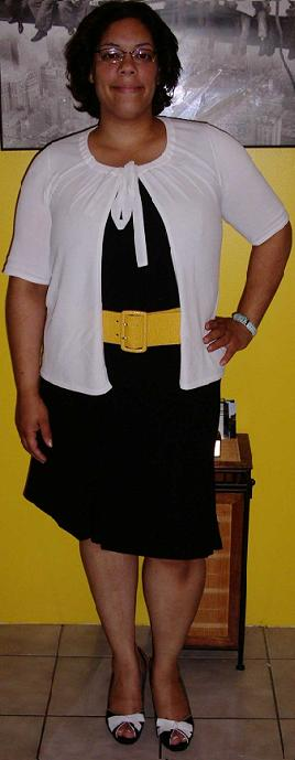 Black dress yellow belt (3)