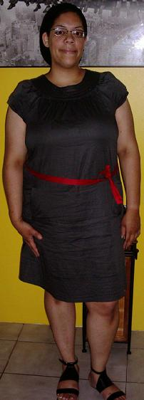 Grey dress Red belt (3)