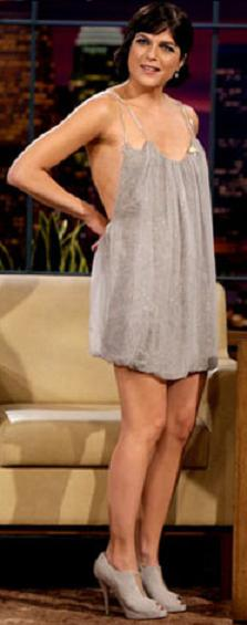 selma_blair_silver_grey_dress_stilla_mccartney_grey_booties