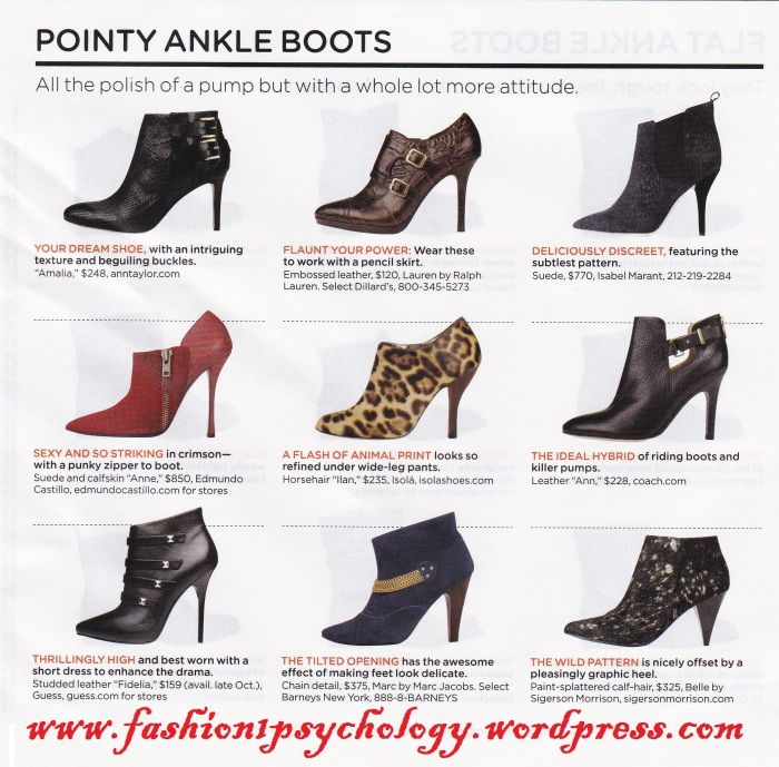 pointy ankle boots