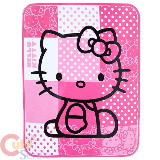 Sanrio_Hello_Kitty_Plush_Blanket_Pink_1
