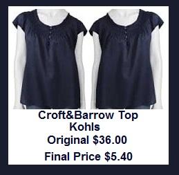 Croft & Barrow® Smocked Sateen Henley