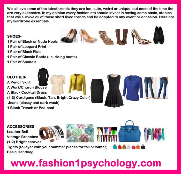 essential wardrobw