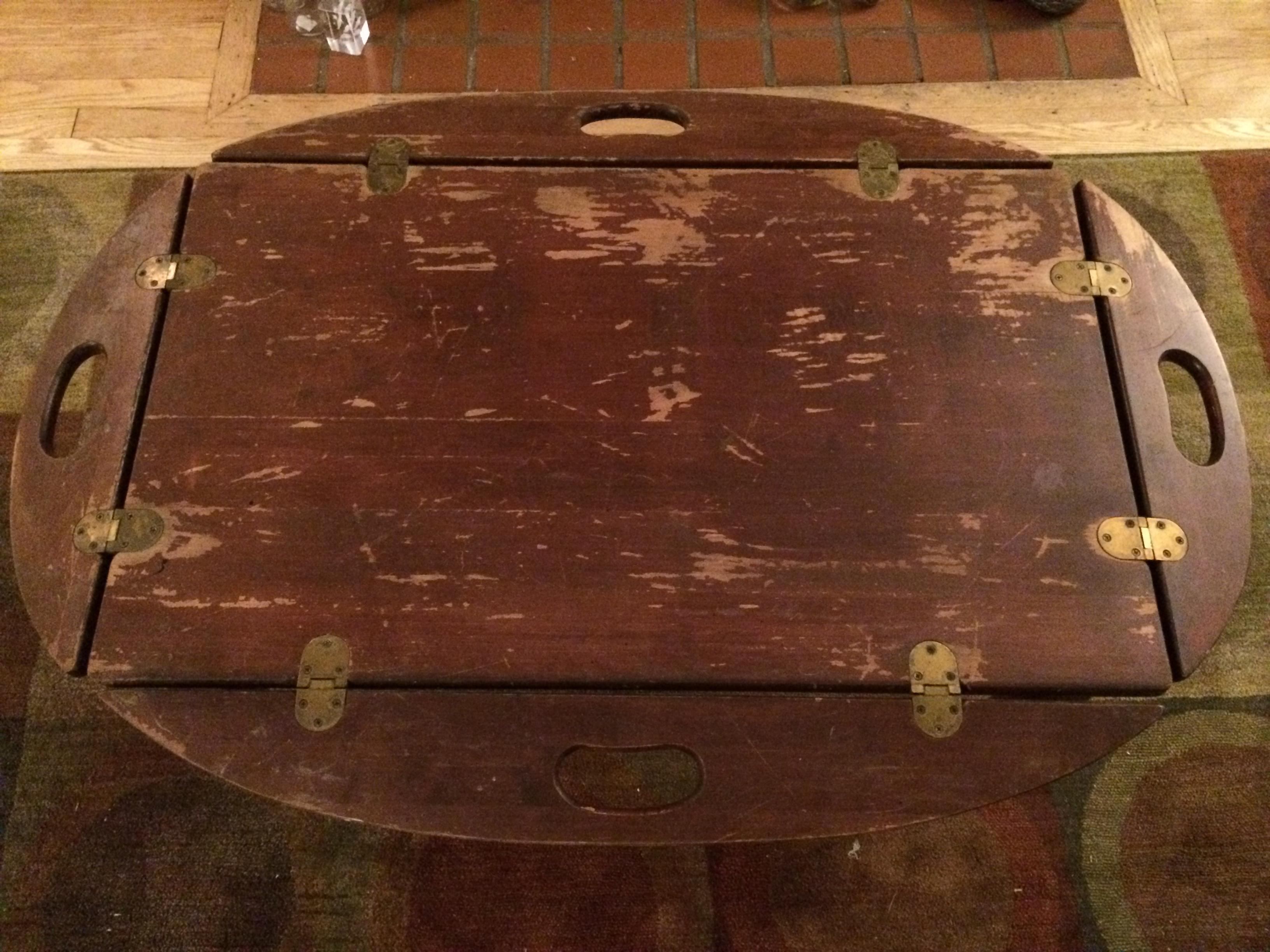 Vintage Rustic Butleru0027s Tray Coffee Table
