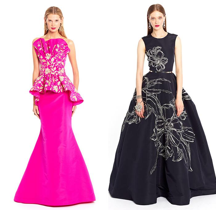 oscar-de-la-renta-2015-resort-cruise-pre-spring-womens-fashion-gown-culottes-romper-bandeau-coat-pantsuit-dress-leaves-ribbon-bowtie-lace-flowers-15x